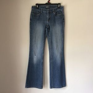 Ann Taylor Lightly Distressed Curvy Fit Jeans 6